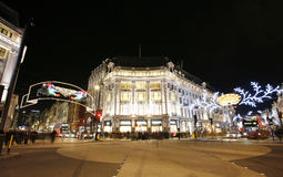 Weihnachtsleuchten 2012 auf London-Straße Stockfotos
