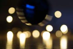 Weihnachtsleuchten bokeh Hintergrund stockfotos