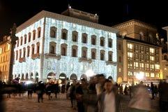 Weihnachtsleuchten im Florenz-Stadtzentrum, Italien Stockfotografie
