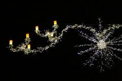 Weihnachtsleuchten in London Stockfoto