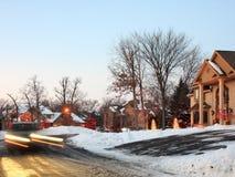 Weihnachtsleuchten in Minnesota Stockbild