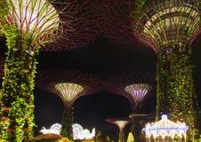 Weihnachtsleuchten in Singapur lizenzfreie stockbilder