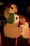 Weihnachtsleuchten und -dekoration Lizenzfreie Stockfotos