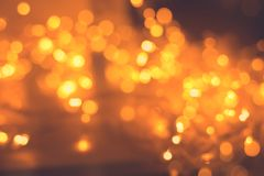 Weihnachtslicht-Garland Blurred Led Bulb Light-Hintergrund Stockfoto
