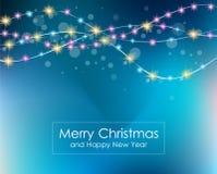 Weihnachtslicht-Hintergrund für Ihre Saisontapeten, lizenzfreie abbildung