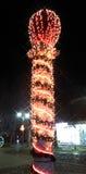 Weihnachtslichter abstrakter Hintergrund, Spalte Stockfoto