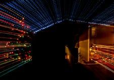 Weihnachtslichter auf einem Haus Lizenzfreies Stockfoto