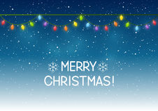 Weihnachtslichter auf nächtlichem Himmel Lizenzfreie Stockfotografie