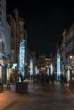 Weihnachtslichter auf neuer Bondstraße London Großbritannien Stockfotografie