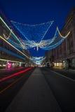 Weihnachtslichter auf Regent Street, London Großbritannien Lizenzfreie Stockbilder