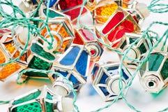 Weihnachtslichter im Retrostil Stockfotografie