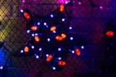Weihnachtslichter, können als Hintergrund verwenden Stockbild