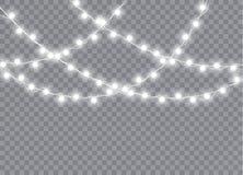 Weihnachtslichter lokalisierten realistische Gestaltungselemente vektor abbildung