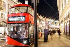 Weihnachtslichter 2016 in London Lizenzfreie Stockfotografie