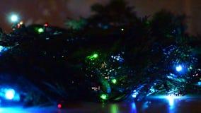 Weihnachtslichter sind- ein klassisches Symbol stock video footage
