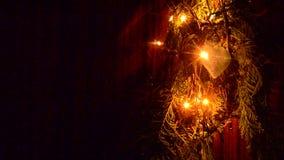 Weihnachtslichter sind- ein klassisches Symbol stock footage
