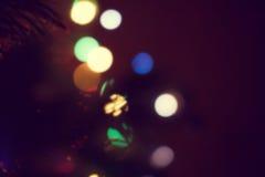 Weihnachtslichter, unfocused Hintergrund Lizenzfreie Stockfotos