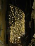 Weihnachtslichter in Venedig Stockbilder