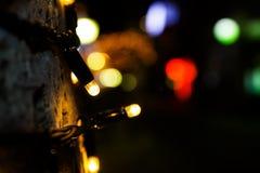 Weihnachtslichter, Weihnachtshintergrund Festliches abstraktes backgro Stockbild