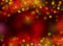 Weihnachtslichtfahnen und -grenzen Stockfoto