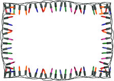 Weihnachtslichtgrenze und -rahmen Lizenzfreies Stockfoto
