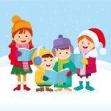 Weihnachtsliedsänger Lizenzfreie Stockfotos