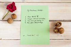 Weihnachtsliste lizenzfreie stockbilder