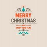 Weihnachtslogoausweis Stockbild