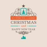 Weihnachtslogoausweis Stockfoto