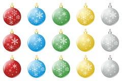 Weihnachtsluftblasen Stockfotografie