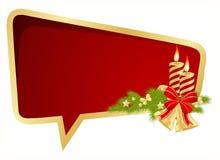 Weihnachtsluftblasenrede Lizenzfreie Stockfotografie