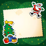 Weihnachtslustiger Hintergrund Stockfotos