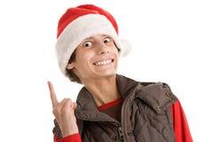 Weihnachtslustiger Junge Stockbild