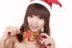 Weihnachtsmädchen Lizenzfreie Stockfotografie