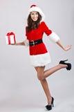 Weihnachtsmädchen Stockfoto