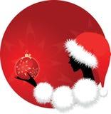 Weihnachtsmädchen oder -frau Lizenzfreie Stockfotos