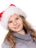 Weihnachtsmädchen-Portrait. Stockbild