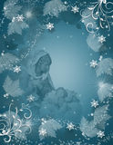 Weihnachtsmagische Geburt Christi-Szene vektor abbildung