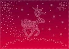 Weihnachtsmagische Rotwild (Vektor) Stockbild