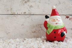 Weihnachtsmann auf dem Schnee Lizenzfreie Stockbilder