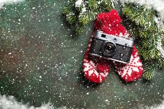 Weihnachtsmann auf einem Schlitten Lizenzfreie Stockfotos