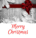Weihnachtsmann auf einem Schlitten Stockfoto