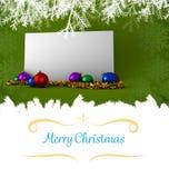 Weihnachtsmann auf einem Schlitten Lizenzfreies Stockbild