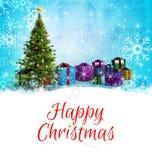Weihnachtsmann auf einem Schlitten Lizenzfreie Stockfotografie