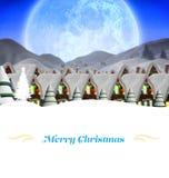 Weihnachtsmann auf einem Schlitten Stockbild