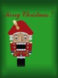 Weihnachtsmann auf einem Schlitten Stockfotografie