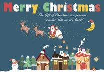 Weihnachtsmann auf einem Schlitten Stockbilder
