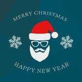 Weihnachtsmann auf einem Schlitten vektor abbildung