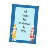 Weihnachtsmann auf einem Schlitten stock abbildung
