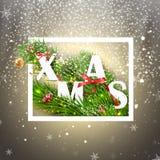 Weihnachtsmann auf einem Schlitten Auch im corel abgehobenen Betrag Lizenzfreies Stockbild